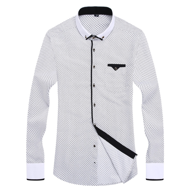Casual long sleeved shirt Slim Fit 7