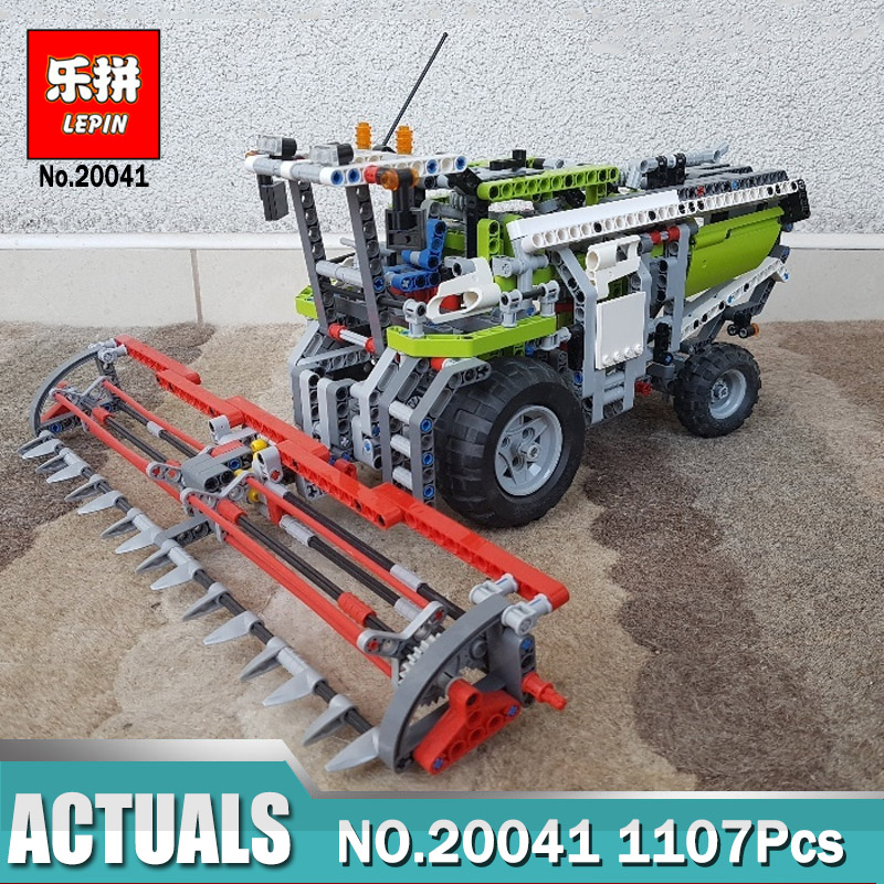 Lepin 20041 1107Pcs Genuine Technic Series The Combine Harvester Set Educational Building Blocks Bricks LegoINGlys 8274 Gift цена