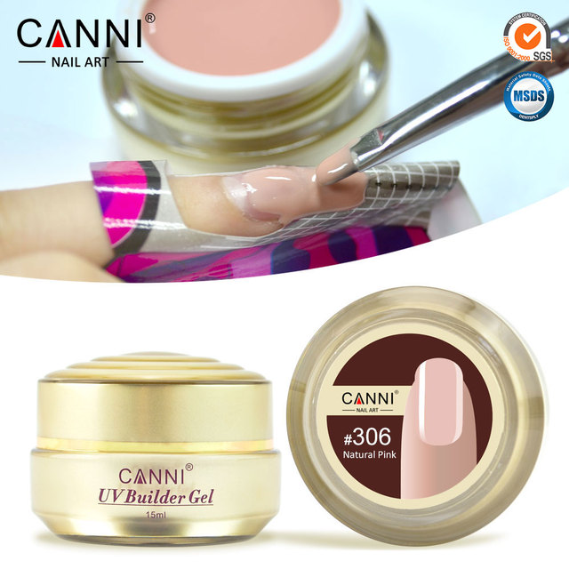 Free Shipping Thick Builder Gel Nails Pink CANNI 15ml Finger Nail Extension UV Gel Nail Cover Pink Camouflage UV Gel