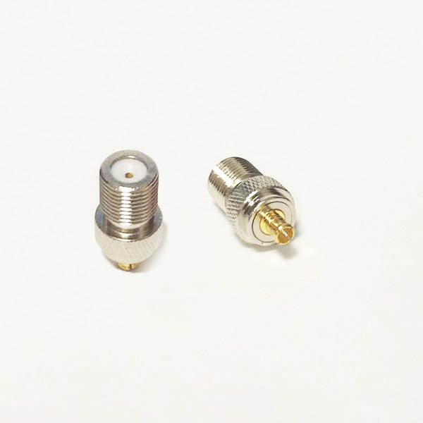 1PC  NEW  F Female Jack to MCX  Male Plug RF Coax Adapter convertor  Straight  Goldplated wholesale new n male plug connector switch n female jack convertor rg316 wholesale fast ship 15cm 6 adapter