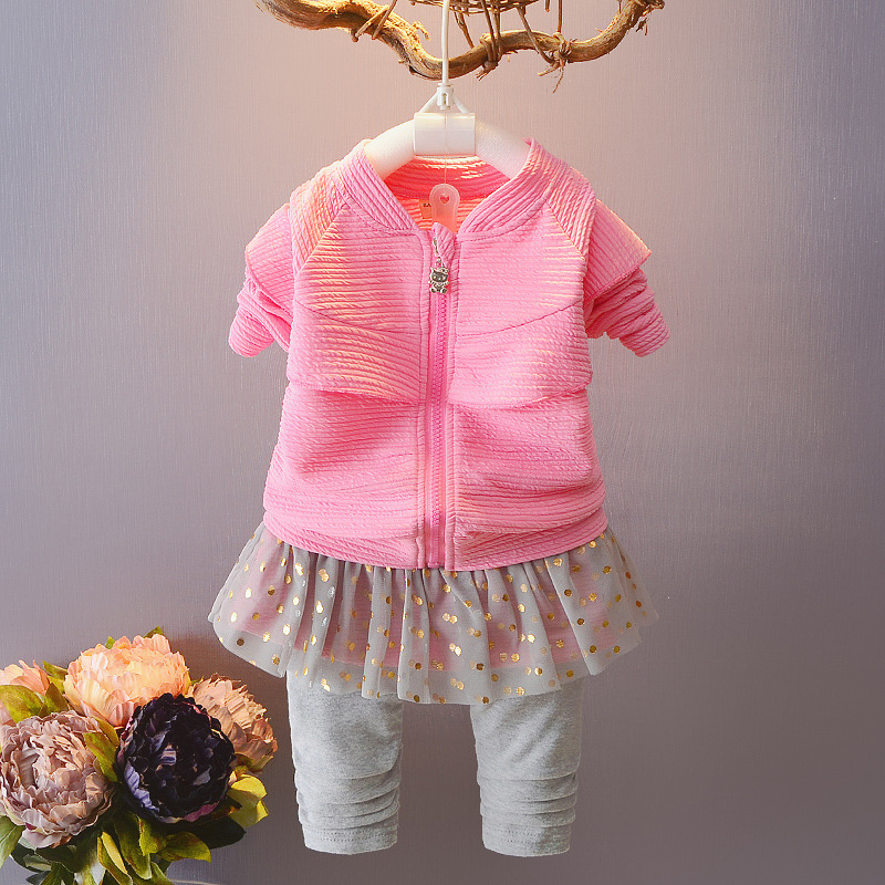 2018 spring Newborn Baby Girls Clothes Infant Kids Casual lace grenadine shirt+Pants 2pcs Kids Outfit Children Clothing 0-24M