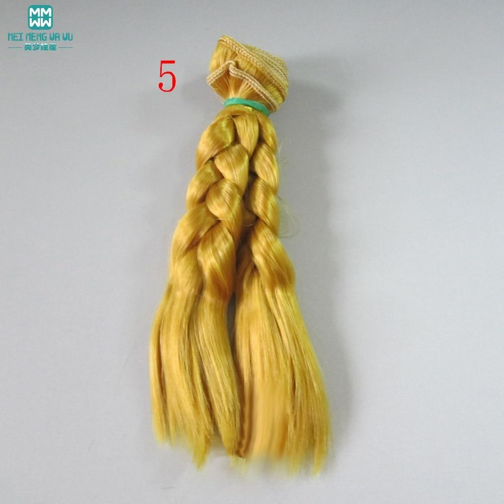 1 unids 15 cm y 25 cm * 100 CM trenza peluca Muñeca pelucas / pelo - Muñecas y peluches - foto 5
