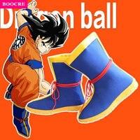 BOOCRE Anime Dragon Ball Son Goku Cosplay Shoes Halloween Party Boots De Futbol Con Tobillera Chaussure De Foot Haute Cheville