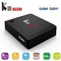 MECOOL KIII Pro Android 6.0 TV Box Amlogic S912 Octa core 3 GB 16 GB 2.4g WiFi Miracast HD 4 K H.265 BT4.0 UHD 4 K DDR3 Media jugador