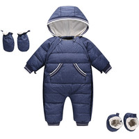 30 Russian Winter Snowsuit 2019 Boy Baby Jacket 90% Duck Down Outdoor Infant Clothes Girls Climbing for Boys Kids Jumpsuit
