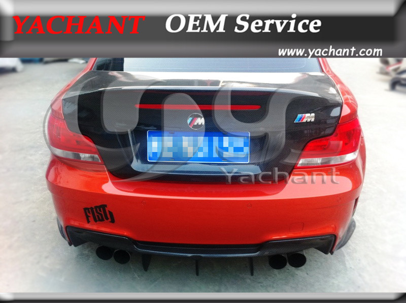 Carbon Fiber RZ 1M Raze Style Trunk Bootlid Tailgate Fit For 2010-2012 1M Coupe