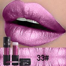 Diamond Metallic Lipstick Lip Tint Makeup 12 Colors Sexy Shimmer Long-Lasting Li