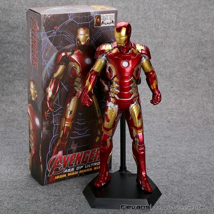 "Crazy Toys Avengers Age of Ultron <font><b>Iron</b></font> <font><b>Man</b></font> Mark XLIII MK 43 PVC Action <font><b>Figure</b></font> Collectible Model Toy 12"" 30cm HRFG509"