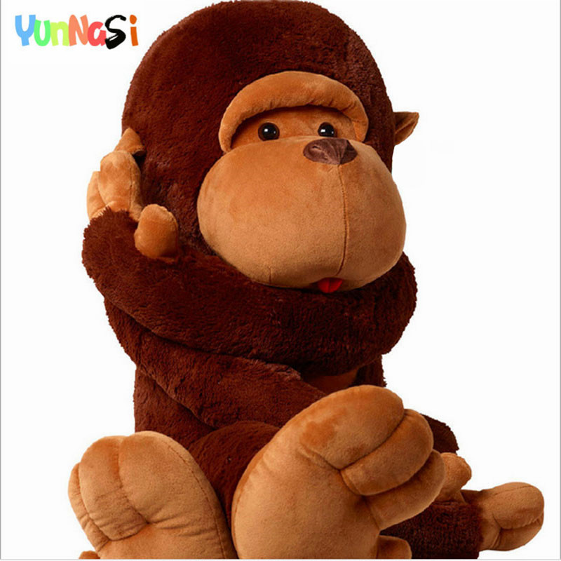 YunNasi géant orang-outan jouets 130 cm singe en peluche oreiller anniversaire noël cadeau enfants jouet gorille doux en peluche coussin filles