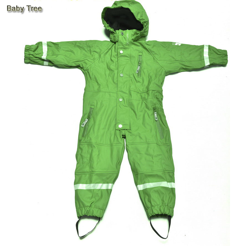 1-7Y Baby Snowsuit kids Snow Wear Jumpsuit Waterproof Windproof Brand Fleece lining Boys Girls Skisuits