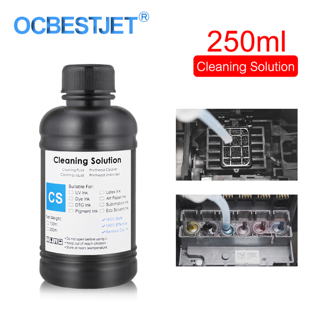 250ML UV Cleaning Liquid For Epson Roland Mimaki UV Modified Printer Cleaning Fluid Printhead Cleaning Solution UV Ink Cleaner