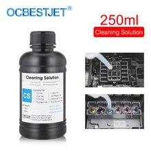 Líquido de limpieza UV para impresora Epson Roland Mimaki de 250ML, solución de limpieza para cabezal de impresión, limpiador de tinta UV