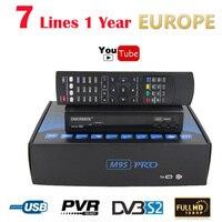 Receptores de satélite M9S PRO TV Receptores FTA DVB-S2 Apoyo Biss Clave EPG newcam 3G IPTV Youporn + 1 año Europa Cline Servidor Caja de la TV