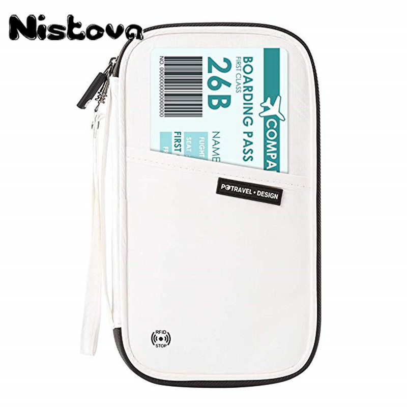 RFID Blocking Travel <font><b>Passport</b></font> Package DuPont Tyvek Wallet Holder Family Document Organizer Bag Multi-Card Storage Pack Clutch image