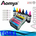 T0481 Refill Ink Kit Empty Ink Cartridge Suit For EPSON R200 R220 R300 R300M R320 R340 RX500 RX600 RX620 RX640 Printers