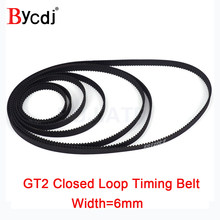 3D Printer Parts GT2 Closed Loop Timing Belt Rubber 2GT 6mm110 112 122 158 200 280 300 400 610 852 1220mm Synchronous Belts Part