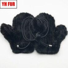 Gants tricotés en fourrure de vison naturel