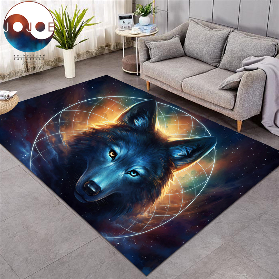 Where Light And Dark Meet By JoJoesArt Carpets Wolf Lion Large Area Rug For Living Room Modern Home Mat Anti-dirty Alfombra