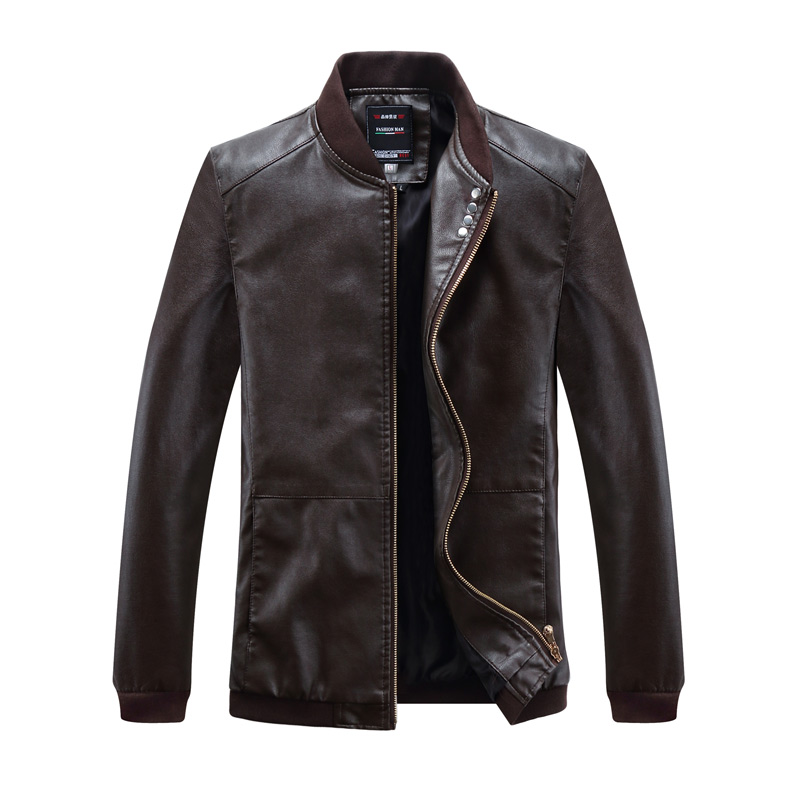 2018 New Men Leather Jacket Fashion Spring autumn Motorcycle PU Leather Male Winter Jackets Outerwear Coats Faux Leather Coat