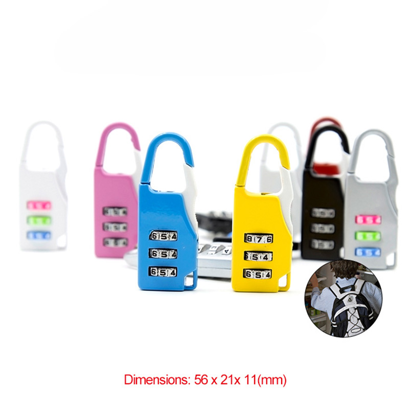 Digit Combination Lock Padlock Set, Metal Password Lock for School Gym Sports Trunk Box Bag Backpack Locker Fence Cabinet Locks