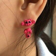 10 Color Fashion Lovely Classic Animal Korean Hot Cute Cat font b Earrings b font For