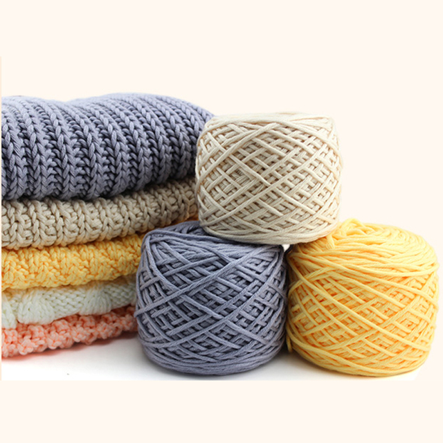 200 Gram Milk Cotton Thick Yarn For Knitting Scarf For Hand Knitting