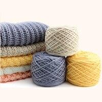 400 грамм молочного хлопка толстая пряжа для вязания шарфа для ручного вязания  2 мяча  доступны различные цвета