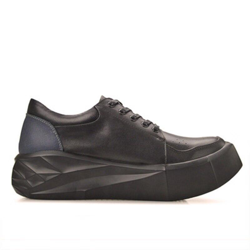 Cuero Lujo Zapatos Encaje Negro Transpirable Verano Primavera Hombres Adultos Altura Zapatillas Aumento Casual Planos blanco Auténtico atAtxX