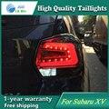 Estilo do carro Cauda Lâmpada para Subaru XV 2013-2016 Cauda Luzes LED Lâmpada Traseira Da Luz Da Cauda LEVOU DRL + freio + Parque + Sinal De Parada Da Lâmpada