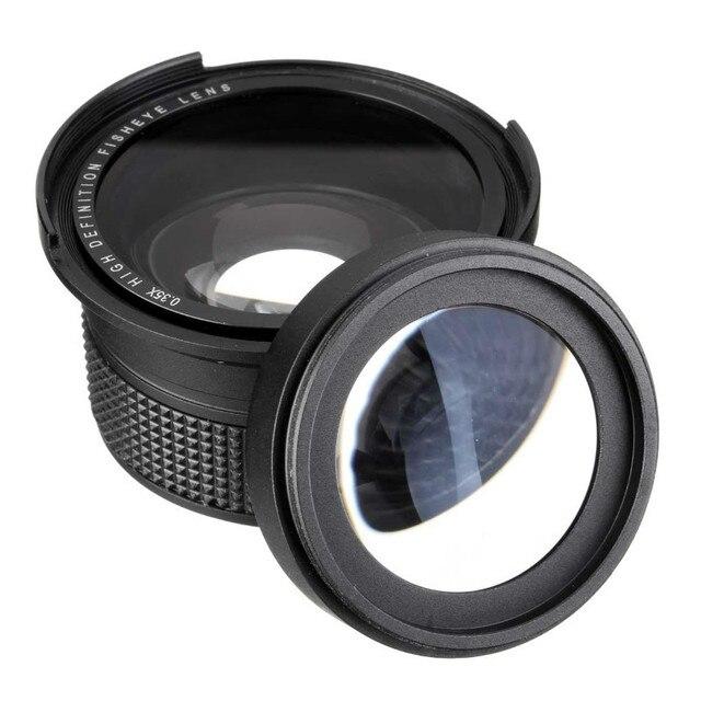 Lightdow 58mm 0.35X Fish Eye Super Wide Angle Fisheye Lens for Canon Nikon Sony DSLR 8