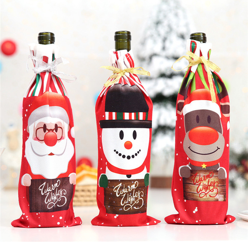 Popular Home Decor Gift Ideas For Christmas: Christmas Decorations For Home Santa Claus Wine Bottle