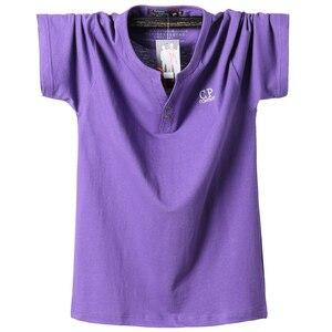 Новые мужские летние короткие футболки, мужские одноцветные повседневные мужские футболки, тонкие свободные футболки, большие размеры 5XL, ...