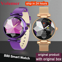 Volemer B80 Smart Women Watch Female Heart Rate Monitor Blood Pressure Fitness Activity Tracker Fashion Ladies Smart Bracelet