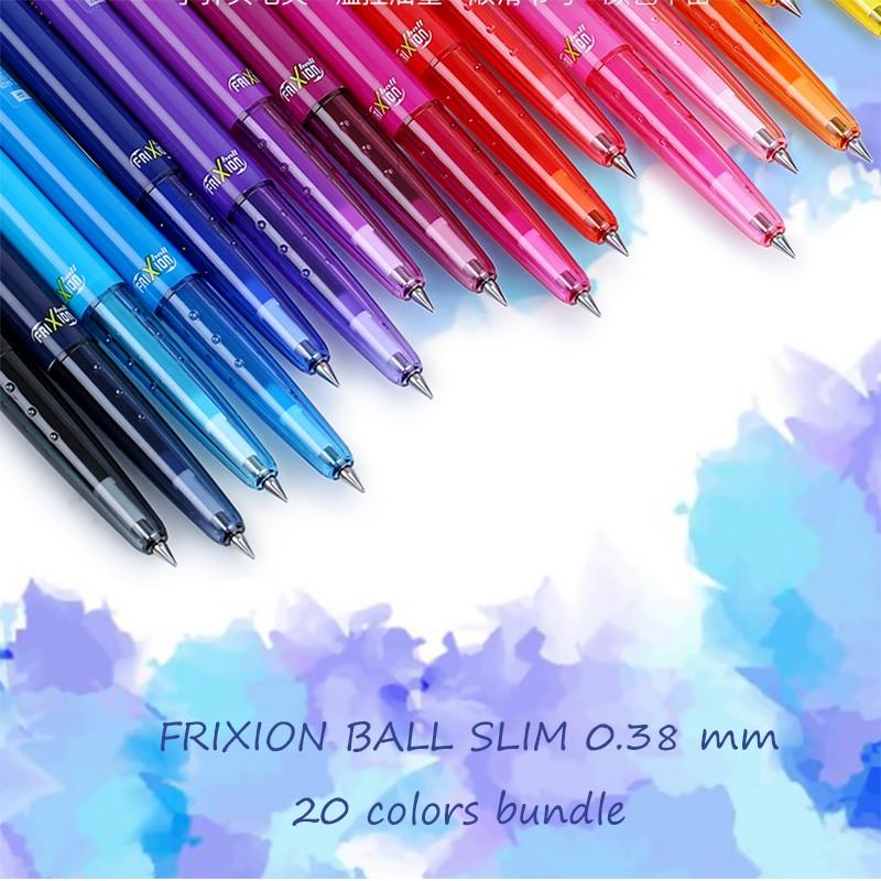LifeMaster Pilot FriXion Ball Slim Gel Pen 0 38mm 20 Color Bundle Ink Erasable LFBS 18UF