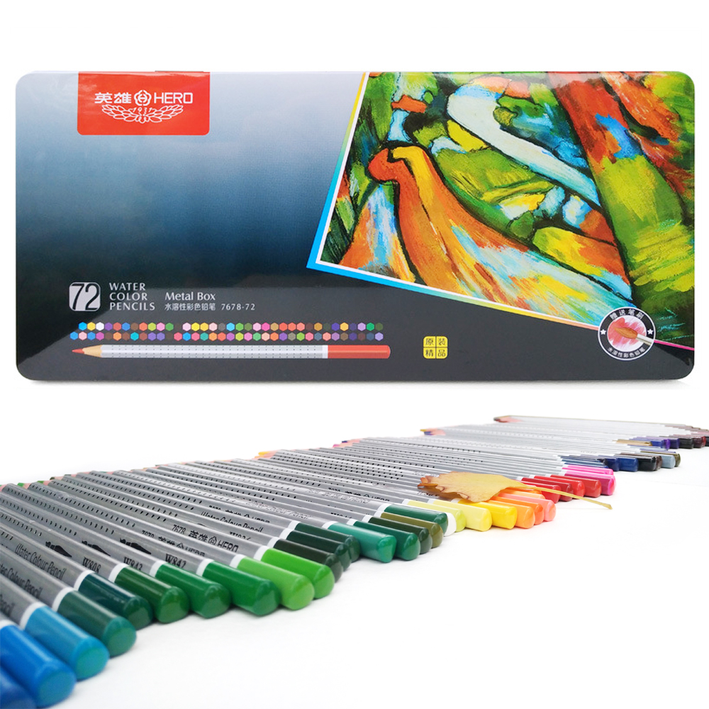72 Colors Professional Watercolor Pencils Set Drawing Colour Pencil for Student School Stationery colored lapices de colores 71 120 professional colour drawing pencil set for school kids student sketching pencil soft safe non toxic colored pencils set