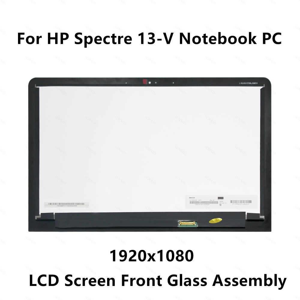 Front Glass LCD Screen Display Assembly  For HP Spectre 13-V Series 13-v004tu 13-v005tu 13-v009tu 13-v010tu 13-v036tu 13-v102tu