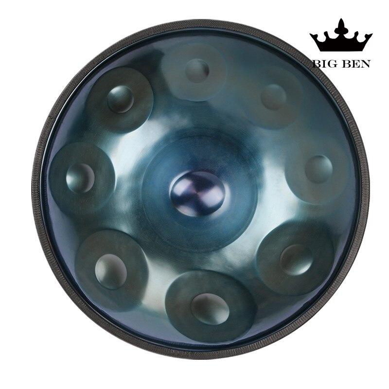 Hecho a mano rendimiento colgar tambor HandPan hecho a mano-HANDPAN 56 cm colgar tambor 9 tono 10 tonos colgar instrumento musical regalo de bolsa