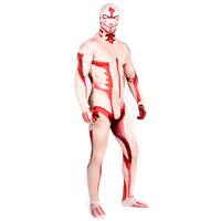High Quality Spandex Adult Armored Titan Costume Men Titan Costume Cosplay Fancy Dress Halloween Costume For