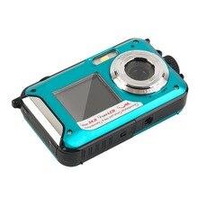 2,7 дюймов Tft цифровая водостойкая камера 24mp Max 1080p двойной экран 16x цифровой зум видеокамера Hd268