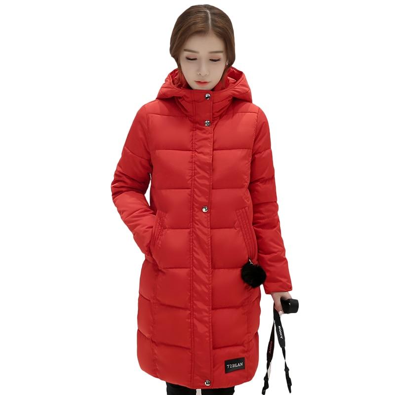 Cheap wholesale simple Autumn Winter down cotton women's fashion casual warm jacket female bisic coats ladies long   parka