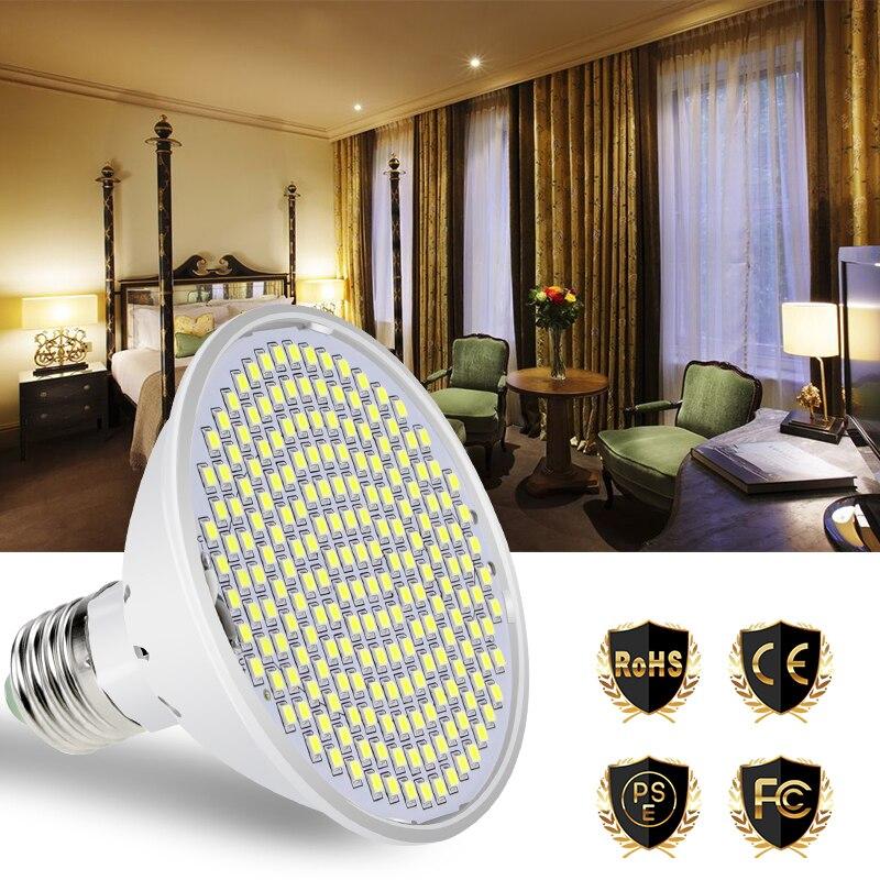E27 Led Lamp 220V 2385 SMD 20W Led Bulb 110V 126 200leds 15W Corn Spot Light Chandelier No Flicker Home Decoration High Lumen