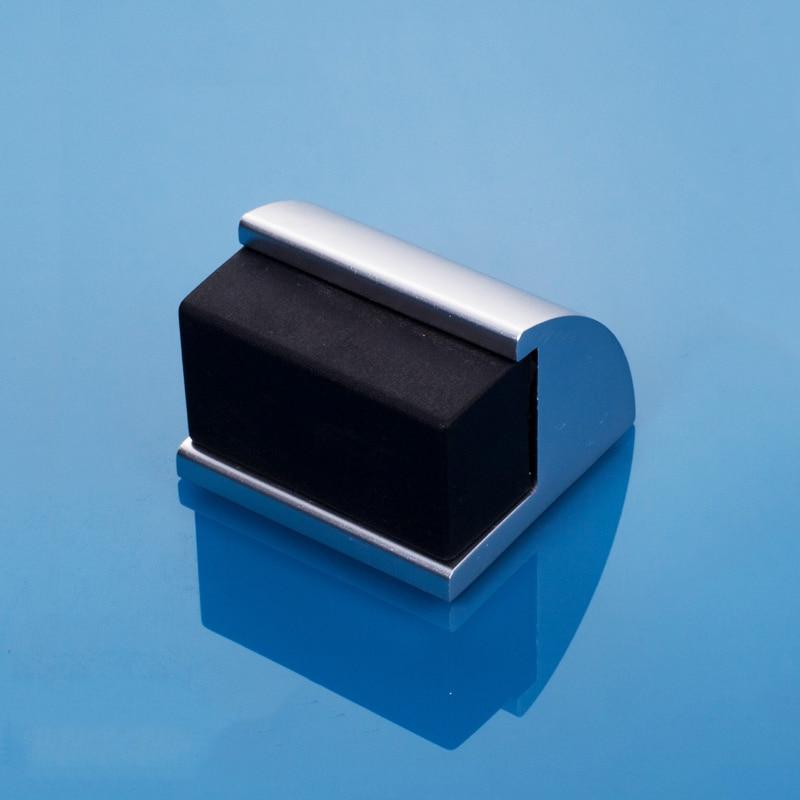 Anticollision Deurstopper Rubber Deur Stopt Deur Houder Wc Verborgen Deurstop Aluminium Legering Meubilair Hardware Montage