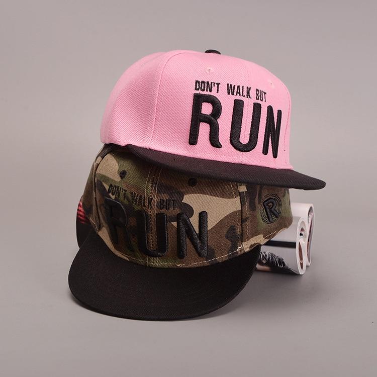 61820c3821b Newborn Photography PropsGood Quality Embroidery RUN Pink Camouflage Baby  Girls Boys Sun Baseball Caps Kids Snapback Hats C073