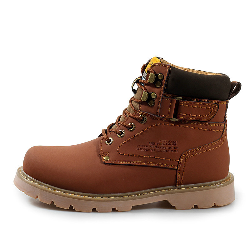 Spring New Fashion Mens Work Boots Fall Men Ankle Work ...