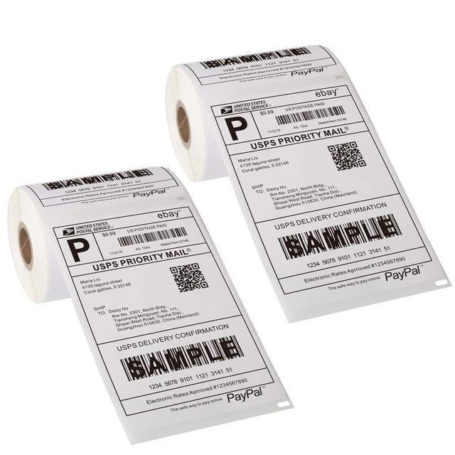Papier dimpression thermique NETUM 100mm pour autocollant de code à barres dimprimante thermique/étiquette/Type thermique adhésif pour NT-8006
