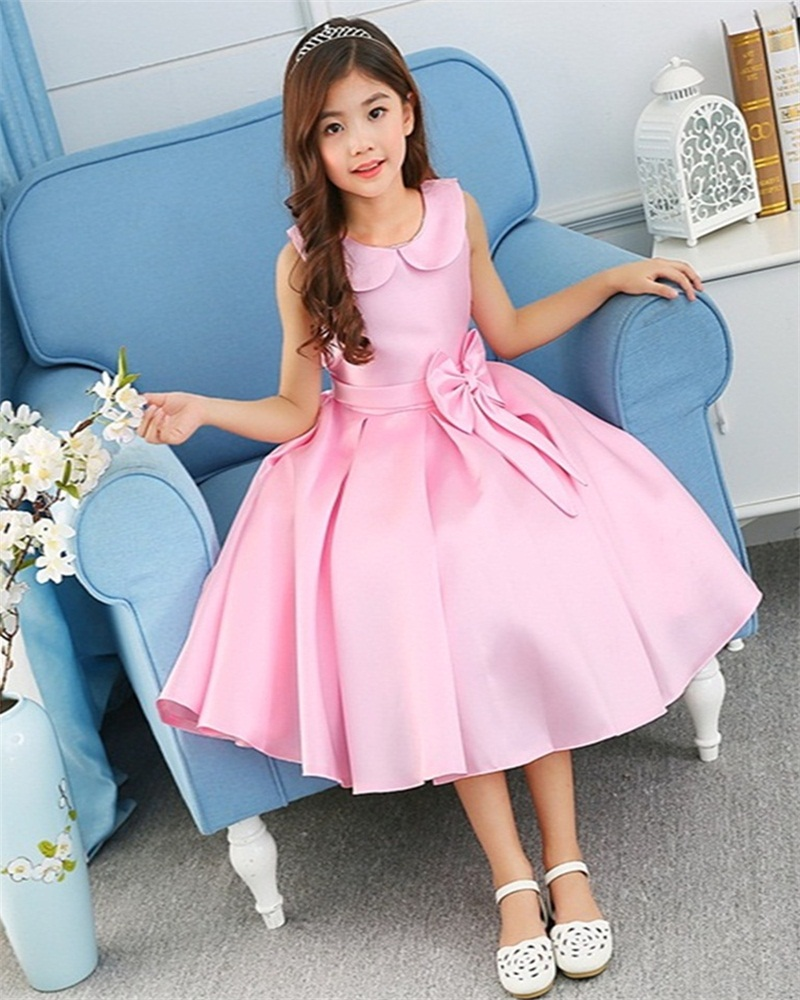 4859715f40f Dropshipping A Line Dress Cotton Turn Down Collar Girls Dress Formal  Dresses Evening Gown Kids Dresses for Girls Wedding -in Dresses from Mother    Kids on ...