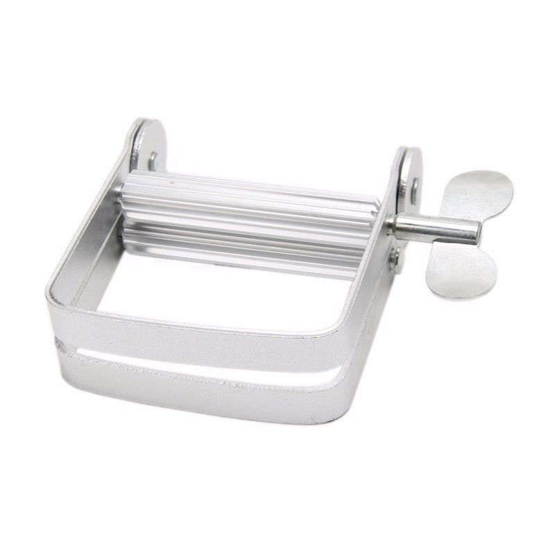Aluminum Manual Toothpaste Dispenser Tooth Paste Tube Squeezer Accessories Hair Color Dye Paint Rolling Metal Squeezing Tools