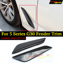 g30 ferder trim Carbon Fiber for BMW G30 520d 530i 530d 540i 525i 550i Car Front Side Air Vent Cover Trim 2017-in