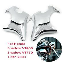 Motorcycle Chrome Neck Cover Frame Wire Line Side Guard For Honda Shadow VT400 VT750 VT 400 750 ACE 1997 1998 - 2003 2002 2001