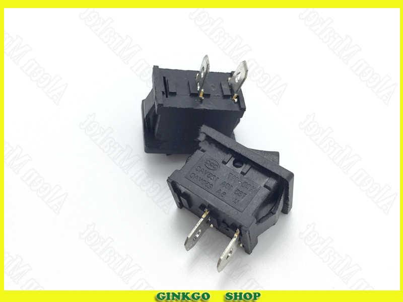 300pcs/lot Rocker Switch KCD-117 15X21mm 2Foot 2File Planar Button Switch 2P